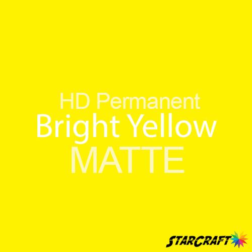 "StarCraft HD Permanent Adhesive Vinyl - MATTE - 12"" x 12"" Sheets - Bright Yellow"