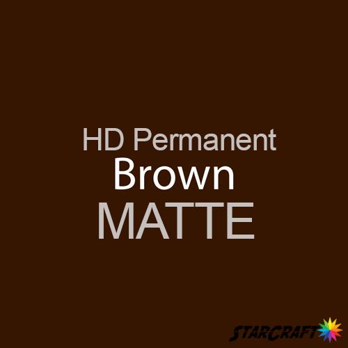 "StarCraft HD Permanent Adhesive Vinyl - MATTE - 12"" x 12"" Sheets - Brown"