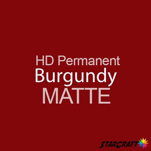 "StarCraft HD Permanent Adhesive Vinyl - MATTE - 12"" x 12"" Sheets - Burgundy"