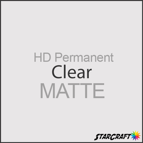 "StarCraft HD Permanent Adhesive Vinyl - MATTE - 12"" x 12"" Sheets - Clear"