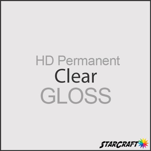 "StarCraft HD Permanent Adhesive Vinyl - GLOSS - 12"" x 5 Foot - Clear"