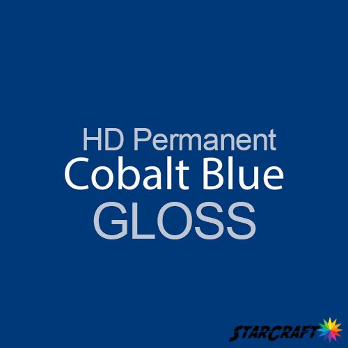 "StarCraft HD Permanent Adhesive Vinyl - GLOSS - 12"" x 5 Foot - Cobalt Blue"