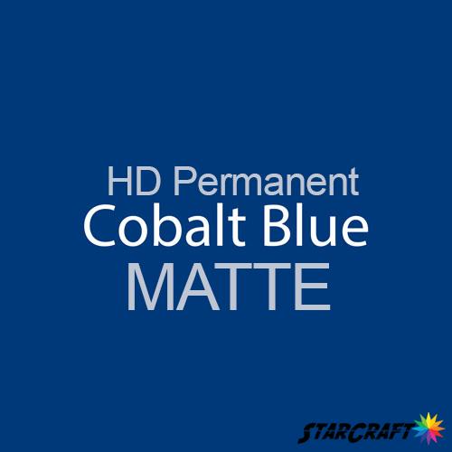 "StarCraft HD Permanent Adhesive Vinyl - MATTE - 12"" x 12"" Sheets - Cobalt Blue"