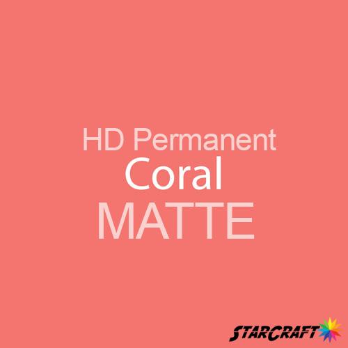 "StarCraft HD Permanent Adhesive Vinyl - MATTE - 12"" x 5 Foot - Coral"