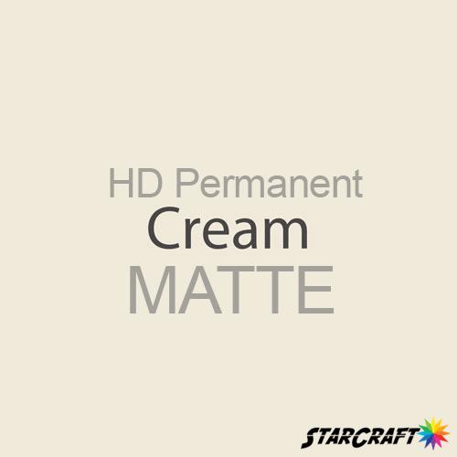 "StarCraft HD Permanent Adhesive Vinyl - MATTE - 12"" x 12"" Sheets - Cream"