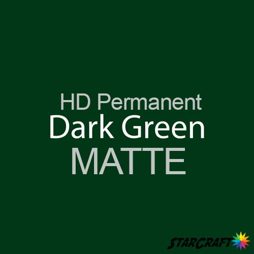 "StarCraft HD Permanent Adhesive Vinyl - MATTE - 12"" x 12"" Sheets - Dark Green"
