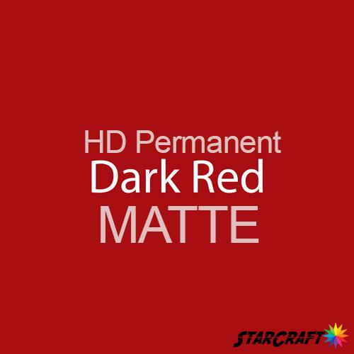 "StarCraft HD Permanent Adhesive Vinyl - MATTE - 12"" x 12"" Sheets - Dark Red"