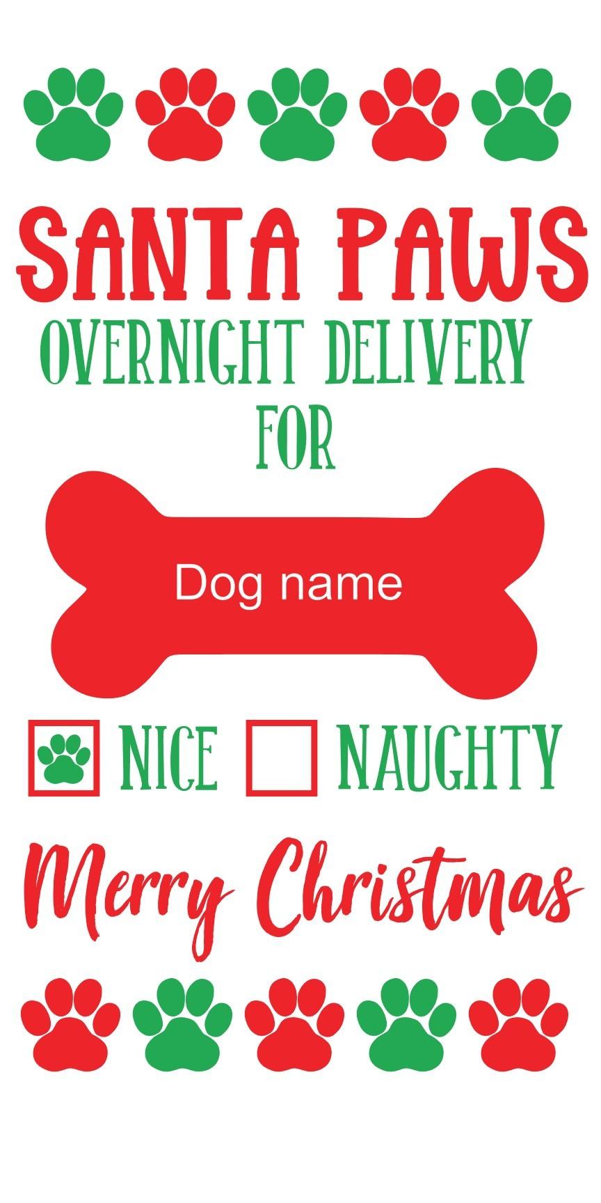 Dog Santa Sack