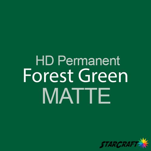 "StarCraft HD Permanent Adhesive Vinyl - MATTE - 12"" x 12"" Sheets - Forest Green"