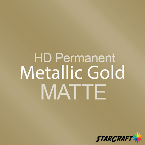 "StarCraft HD Permanent Adhesive Vinyl - MATTE - 12"" x 12"" Sheets - Metallic Gold"