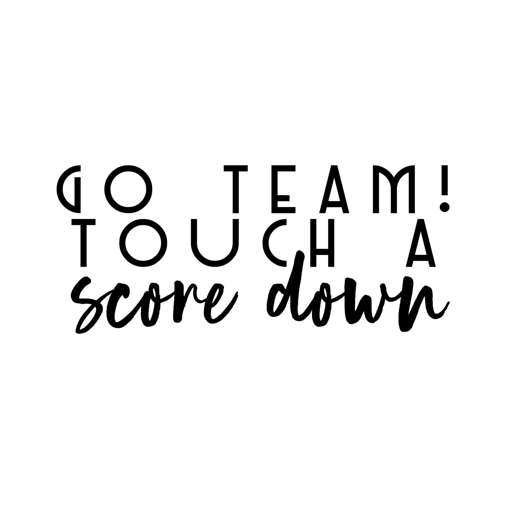 Go Team Touch a Scoredown