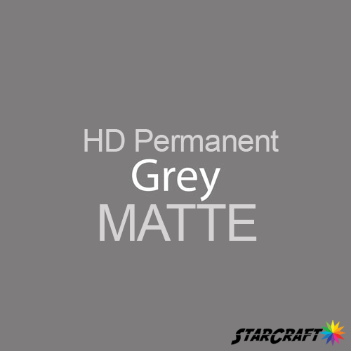 "StarCraft HD Permanent Adhesive Vinyl - MATTE - 12"" x 12"" Sheets - Grey"