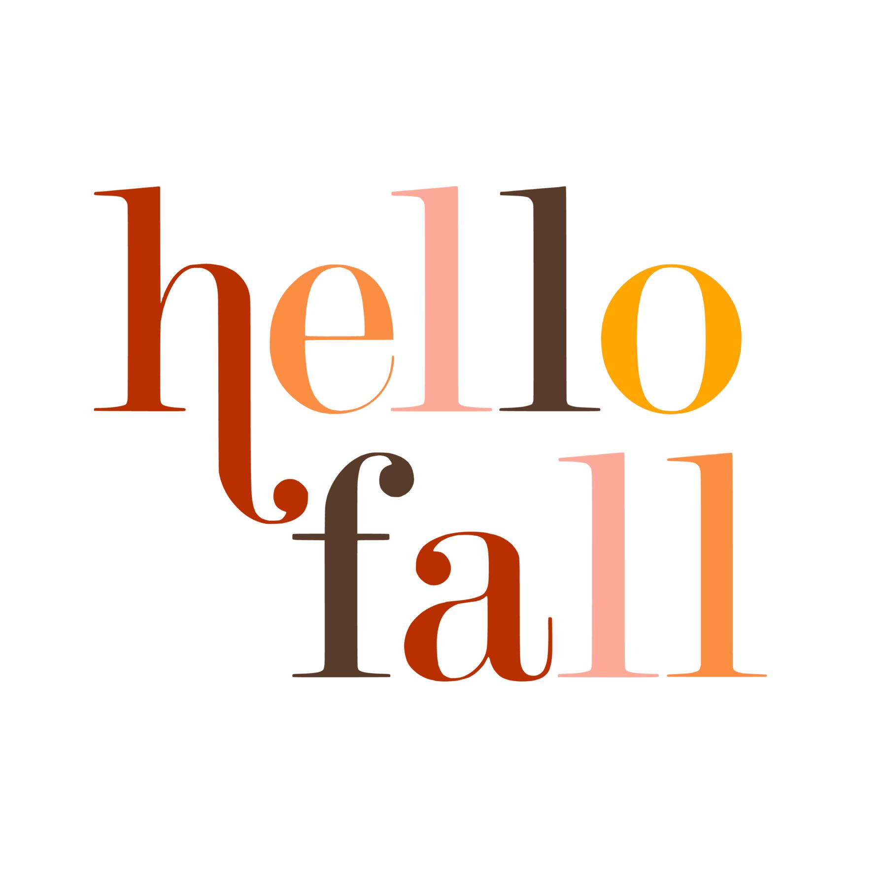 Hello Fall Colorful