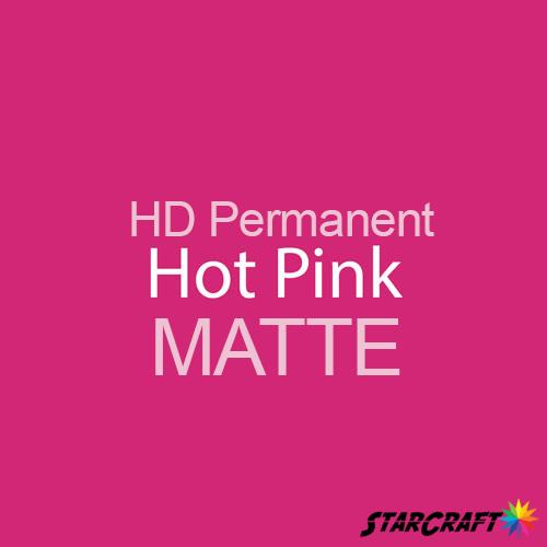 "StarCraft HD Permanent Adhesive Vinyl - MATTE - 12"" x 5 Foot - Hot Pink"