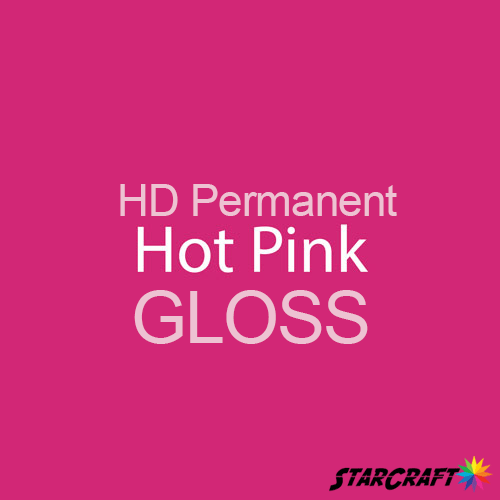 "StarCraft HD Permanent Adhesive Vinyl - GLOSS - 12"" x 5 Foot - Hot Pink"
