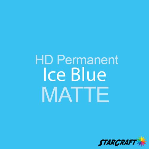 "StarCraft HD Permanent Adhesive Vinyl - MATTE - 12"" x 12"" Sheets - Ice Blue"