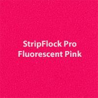 "Siser StripFlock Pro - Fluorescent Pink - 15""x12"" Sheet"