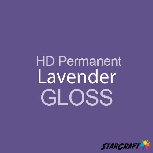 "StarCraft HD Permanent Adhesive Vinyl - GLOSS - 12"" x 5 Foot - Lavender"