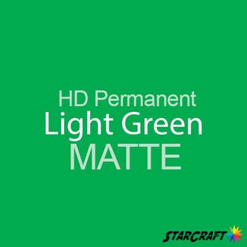 "StarCraft HD Permanent Adhesive Vinyl - MATTE - 12"" x 12"" Sheets - Light Green"