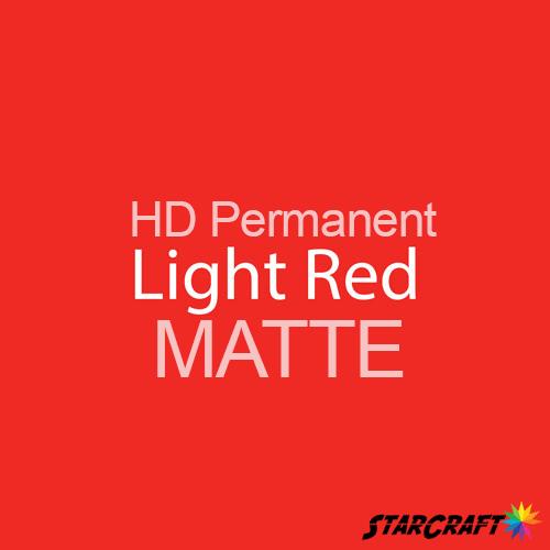 "StarCraft HD Permanent Adhesive Vinyl - MATTE - 12"" x 12"" Sheets - Light Red"