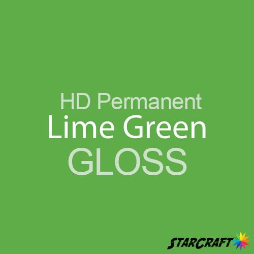 "StarCraft HD Permanent Adhesive Vinyl - GLOSS - 12"" x 5 Foot - Lime Green"