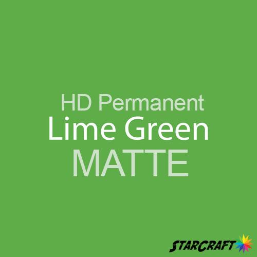 "StarCraft HD Permanent Adhesive Vinyl - MATTE - 12"" x 12"" Sheets - Lime Green"