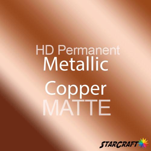 "StarCraft HD Permanent Adhesive Vinyl - MATTE - 12"" x 12"" Sheets - Metallic Copper"