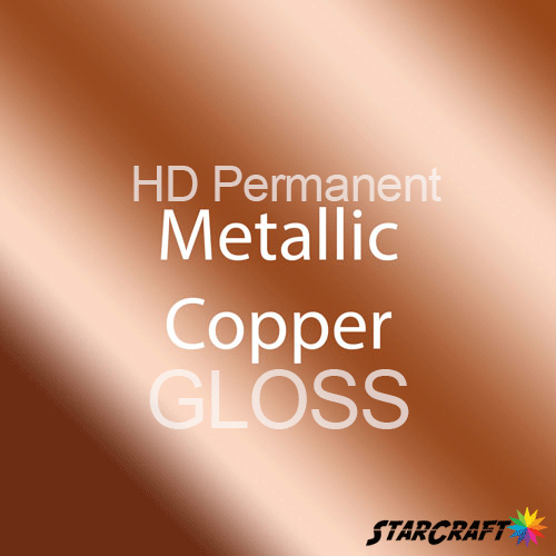 "StarCraft HD Permanent Adhesive Vinyl - GLOSS - 12"" x 5 Foot - Metallic Copper"