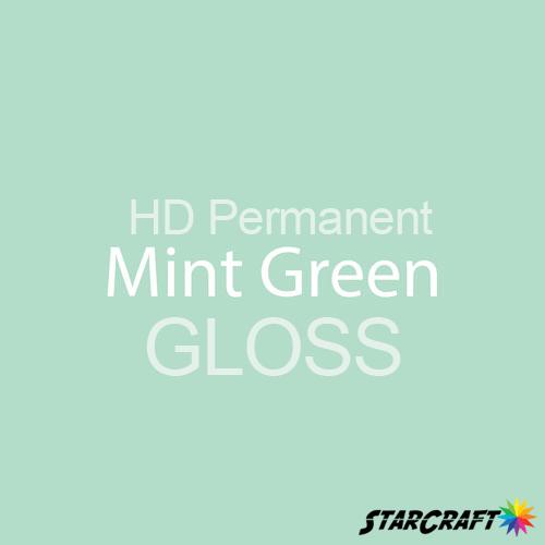 "StarCraft HD Permanent Adhesive Vinyl - GLOSS - 12"" x 5 Foot - Mint Green"