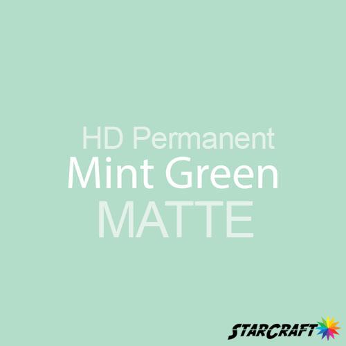 "StarCraft HD Permanent Adhesive Vinyl - MATTE - 12"" x 5 Foot - Mint Green"