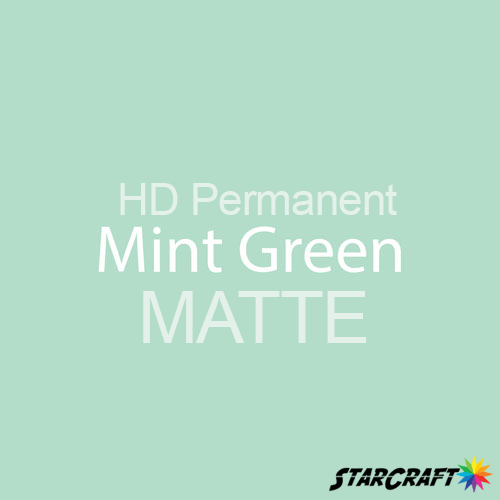 "StarCraft HD Permanent Adhesive Vinyl - MATTE - 12"" x 12"" Sheets - Mint Green"