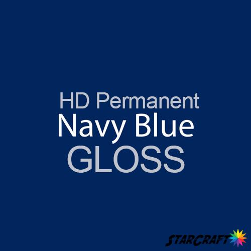 "StarCraft HD Permanent Adhesive Vinyl - GLOSS - 12"" x 5 Foot - Navy Blue"
