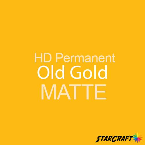 "StarCraft HD Permanent Adhesive Vinyl - MATTE - 12"" x 12"" Sheets - Old Gold"