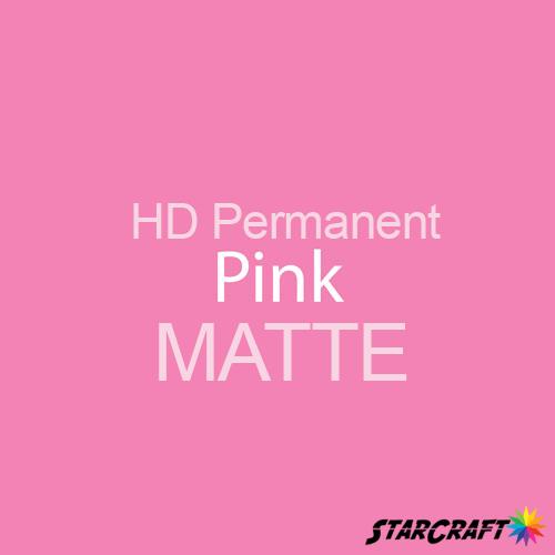 "StarCraft HD Permanent Adhesive Vinyl - MATTE - 12"" x 5 Foot - Pink"