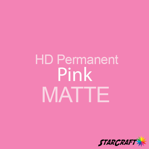 "StarCraft HD Permanent Adhesive Vinyl - MATTE - 12"" x 12"" Sheets - Pink"