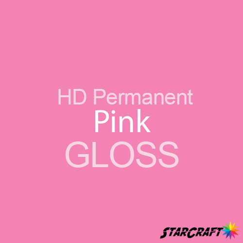 "StarCraft HD Permanent Adhesive Vinyl - GLOSS - 12"" x 5 Foot - Pink"