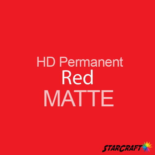 "StarCraft HD Permanent Adhesive Vinyl - MATTE - 12"" x 5 Foot - Red"