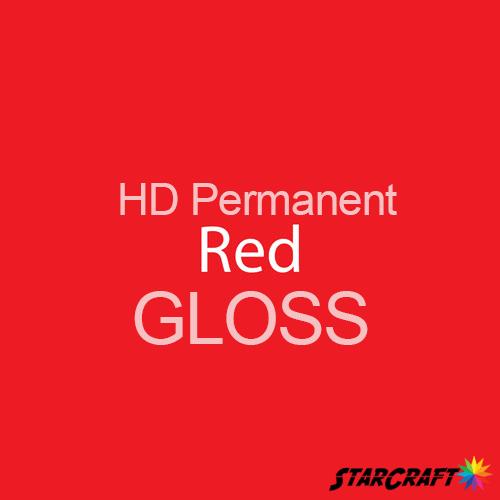 "StarCraft HD Permanent Adhesive Vinyl - GLOSS - 12"" x 5 Foot - Red"