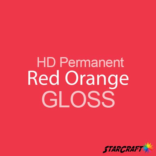 "StarCraft HD Permanent Adhesive Vinyl - GLOSS - 12"" x 12"" Sheets - Red Orange"
