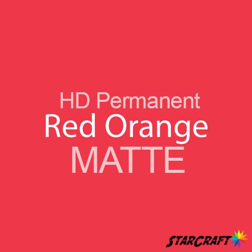"StarCraft HD Permanent Adhesive Vinyl - MATTE - 12"" x 12"" Sheets - Red Orange"