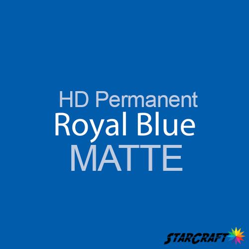 "StarCraft HD Permanent Adhesive Vinyl - MATTE - 12"" x 12"" Sheets - Royal Blue"