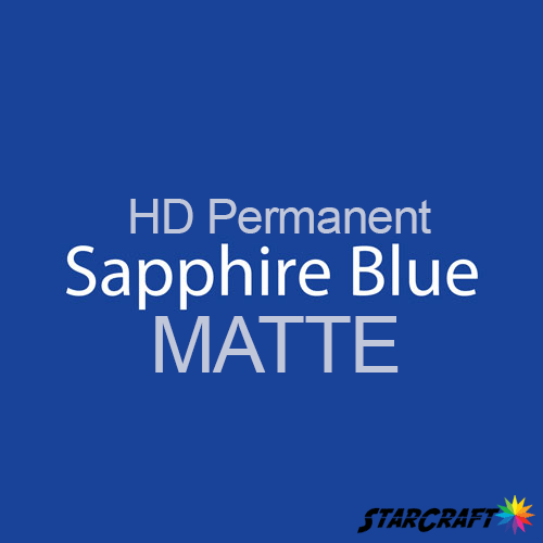 "StarCraft HD Permanent Adhesive Vinyl - MATTE - 12"" x 12"" Sheets - Sapphire Blue"