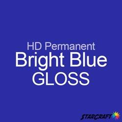 "StarCraft HD Permanent Adhesive Vinyl - GLOSS - 12"" x 12"" Sheets - Bright Blue"