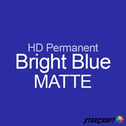 "StarCraft HD Permanent Adhesive Vinyl - MATTE - 12"" x 5 Foot - Bright Blue"