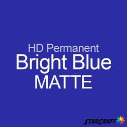 "StarCraft HD Permanent Adhesive Vinyl - MATTE - 12"" x 12"" Sheets - Bright Blue"