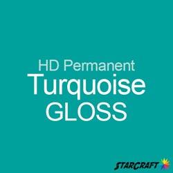 "StarCraft HD Permanent Adhesive Vinyl - GLOSS - 12"" x 12"" Sheets - Turquoise"