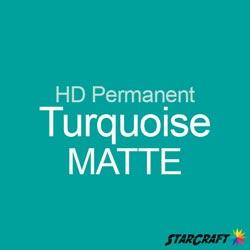 "StarCraft HD Permanent Adhesive Vinyl - MATTE - 12"" x 12"" Sheets - Turquoise"