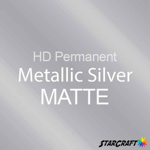 "StarCraft HD Permanent Adhesive Vinyl - MATTE - 12"" x 12"" Sheets - Metallic Silver"