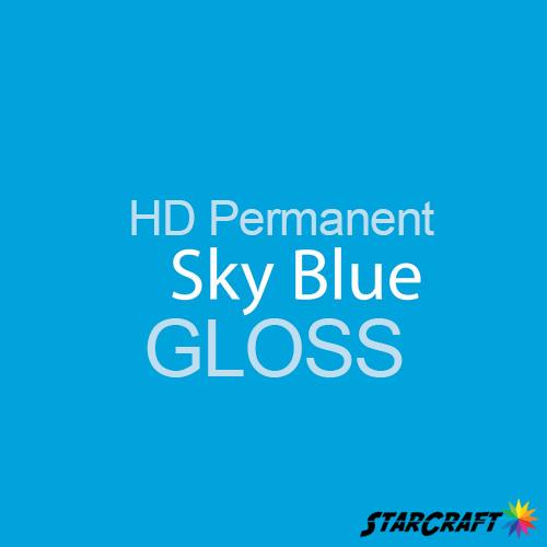 "StarCraft HD Permanent Adhesive Vinyl - GLOSS - 12"" x 5 Foot - Sky Blue"