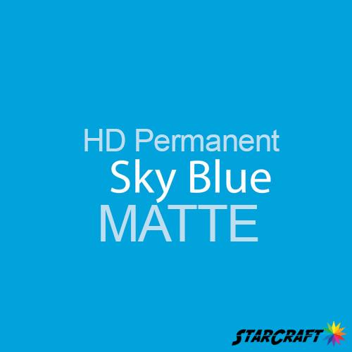 "StarCraft HD Permanent Adhesive Vinyl - MATTE - 12"" x 12"" Sheets - Sky Blue"